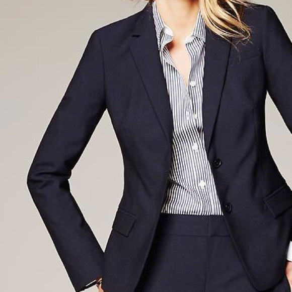 BANANA REPUBLIC $198 BLACK LONG AND LEAN FIT LIGHTWEIGHT WOOL BLAZER JACKET 2 P